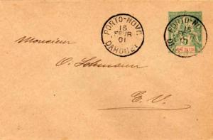 Dahomey Benin 5c Navigation and Commerce Envelope 1901 Porto-Novo, Dahomey Lo...