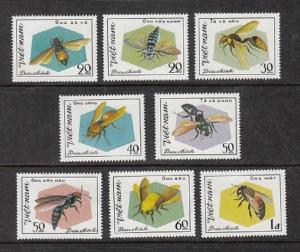 Viet Nam 1172-1179, MNH, Insects 1982. x28042