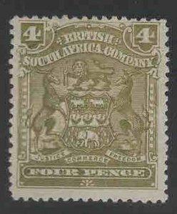 Rhodesia Scott 64 MH* coat of arms stamp
