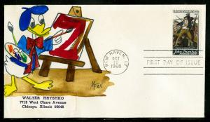 Disney Cover 1968 Melissa Fax Donald Duck Hand Painted