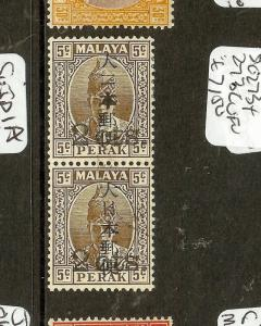 MALAYA  JAPANESE OCCUPATION (P2601B)  PERAK 1C/5C PR SGJ273+273C  VFU