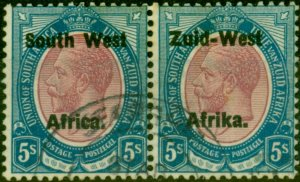 South West Africa 1923 5s Purple & Blue SG13 Very Fine Used