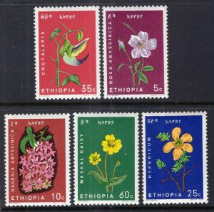 Ethiopia 434-438 Flowers MNH VF