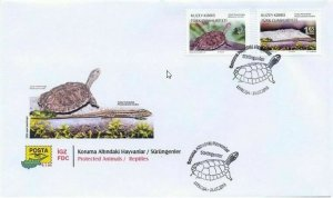 TURKISH NORTHERN CYPRUS - (FDC) Protected Animals / Reptiles Stamps, MNH, 2018