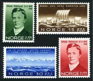 Norway 247-250,MNH.Michel 267-270. Richard Nordraak,Composer,1942.Broad Sail,