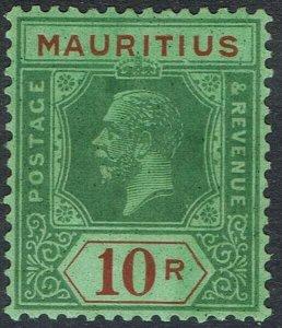 MAURITIUS 1921 KGV 10R WMK MULTI SCRIPT CA