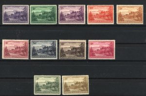 Norfolk Island 2-12   Mint NH 1947 PD
