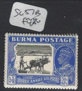 BURMA (P0304B)    KGVI   3A 6P COW  SG 57B  MNH