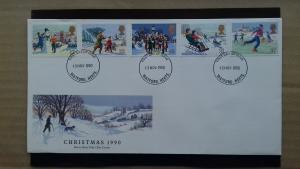 Great Britain 1990 Christmas Stamps FDC