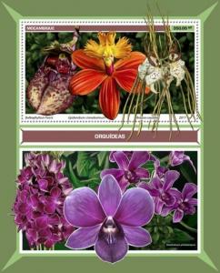 Mozambique - 2017 Orchids on Stamps - Stamp Souvenir Sheet - MOZ17119b
