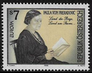 Austria #1704 MNH Stamp - Paula von Preradovic