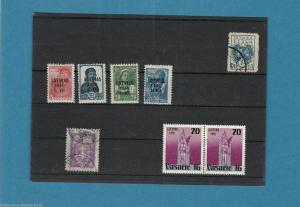 LITHUANIA 1941 OVERPRINTS UNMOUNTED MINT  & OTHER USED  STAMPS . REF R483