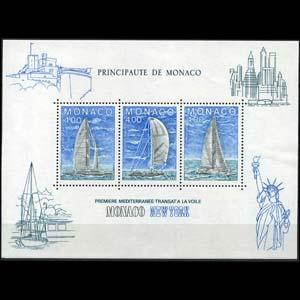 MONACO 1985 - Scott# 1486 S/S Yachting Race NH