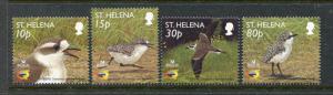 St Helena 793-796, MNH, Bird St. Helena Plover 2002. x29108