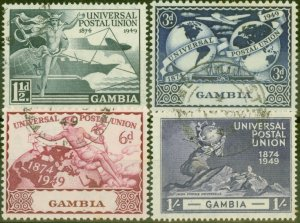 Gambia 1949 UPU set of 4 SG166-169 V.F.U