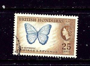 British Honduras 151 Used 1953 Butterfly