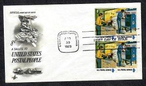 1489 - 1490 Postal People Unaddressed ArtCraft FDC