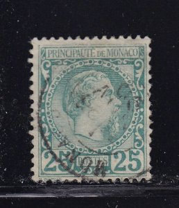 Monaco Scott # 6 VF used neat cancel with nice color scv $ 75 ! see pic !