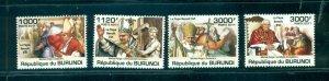 Burundi #836-39 (2011 Pope Benoit set) VFMNH CV $15.00