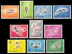 San Marino 1963 Scott #572-581 Mint Never Hinged