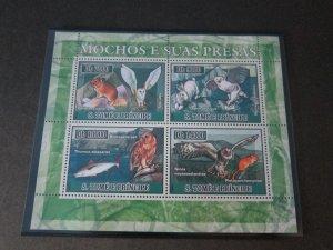 St. Thomas & Prince Islands 2007 Sc 1683 Bird set MNH