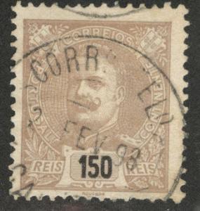 Portugal Scott 127 Used 1899 King Carlos CV$22.5 margin tear