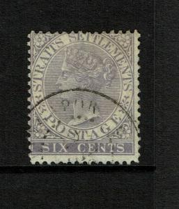 Straits Settlements SG# 13a, Used, Hinge Remnant - S7484