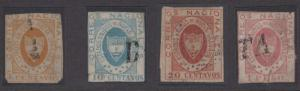 COLOMBIA 1861 NEW GRENADA Sc 14-18 TOP VALUES FORGERIES MUTE CANCELS+ (CV$1200)