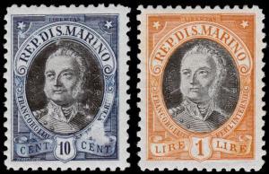 San Marino Scott 97, 101 (1926) Mint H F-VF, CV $6.25