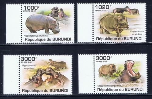 Burundi 822-25 NH 2011 Animals