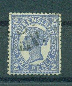 Queensland sc# 114 (3) used cat value $7.50