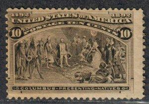 $US Sc#237 M/NH/A-F, Cv. $285