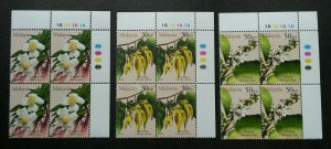 *FREE SHIP Malaysia Scented Flowers 2001 Flora Plant (stamp blk 4) MNH