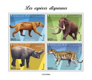 C A R - 2021 - Extinct Species - Perf 4v Sheet - Mint Never Hinged