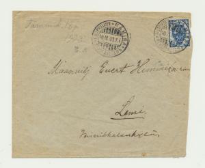 FINLAND 1903 COVER HAMINA TO LEMI, 20p RATED, WILLMANSTRAND TRANSIT
