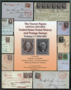 Travers Papers Official Records U.S. Postal Records & Stamps Autographed Vol !&2