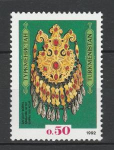 Turkmenistan 1992 Jewelry Museum Treasures II MNH stamp