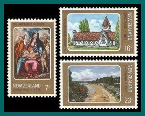 New Zealand 1978 Christmas, MNH #671-673,SG1182-SG1184