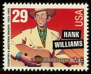 2723A - Hank William Scarce Perf 11.2x11.5 Variety Cat $17.50 Mint NH