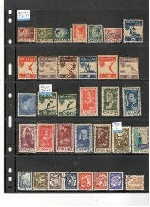 ROMANIA COLLECTION ON STOCK SHEET, MINT/USED