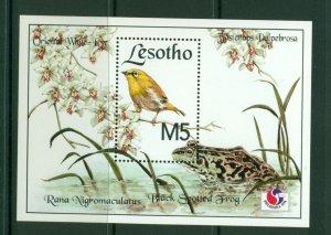 Lesotho  #1016 (1994 Frog and Bird PhilKorea sheet) VFMNH CV $5.50