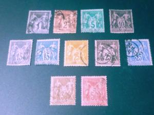 France 60a, 69, 70, 75 ,62a, 76, 80, 64, 86, 65, 83a all Used VF