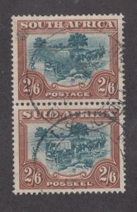 South Africa Sc 63 used 1949 2sh6p Trekking, VF