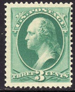 1879 U.S George Washington 3¢ issue MVLH Sc# 184 CV $90.00