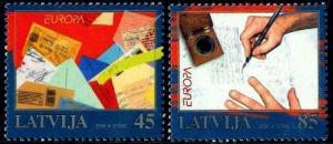 HERRICKSTAMP LATVIA Sc.# 707-08 Europa 2008 The Letter