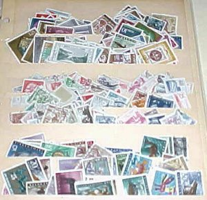 YUGOSLAVIA 240 STAMPS , 94 COMMEMORATIVE,109 DEFINITIVES USED 1940's-1980's