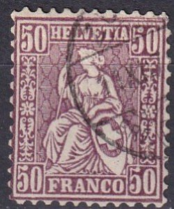 Switzerland #59 F-VF Used CV $55.00 (Z1737)