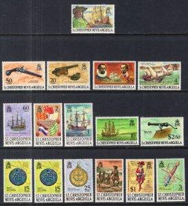 St Kitts Nevis 206-222 MNH VF
