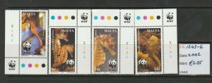 MALTA STAMPS 2002 - SEAHORSES MINT NEVER HINGED