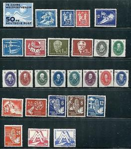 GDR  Early Mint Collection  VF -  Lakeshore Philatelics